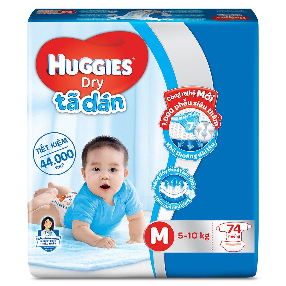 Bảng giá tã dán Huggies chính hãng trong tháng 1/2018