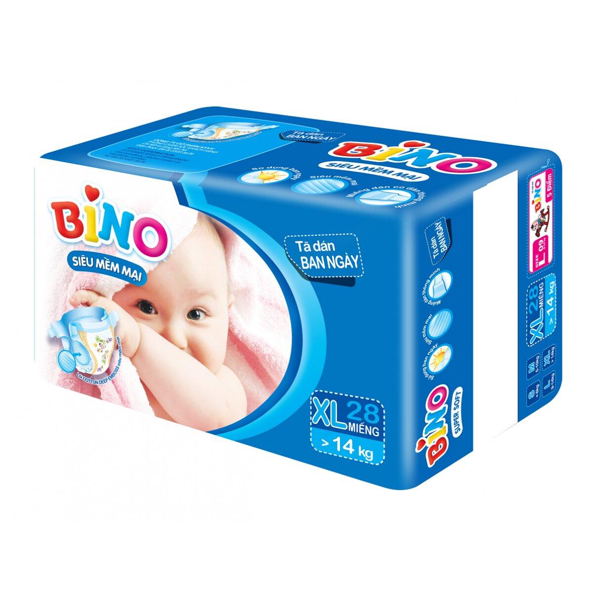 Bảng giá tã dán, tã quần Bino mới nhất cập nhật tháng 1/2016