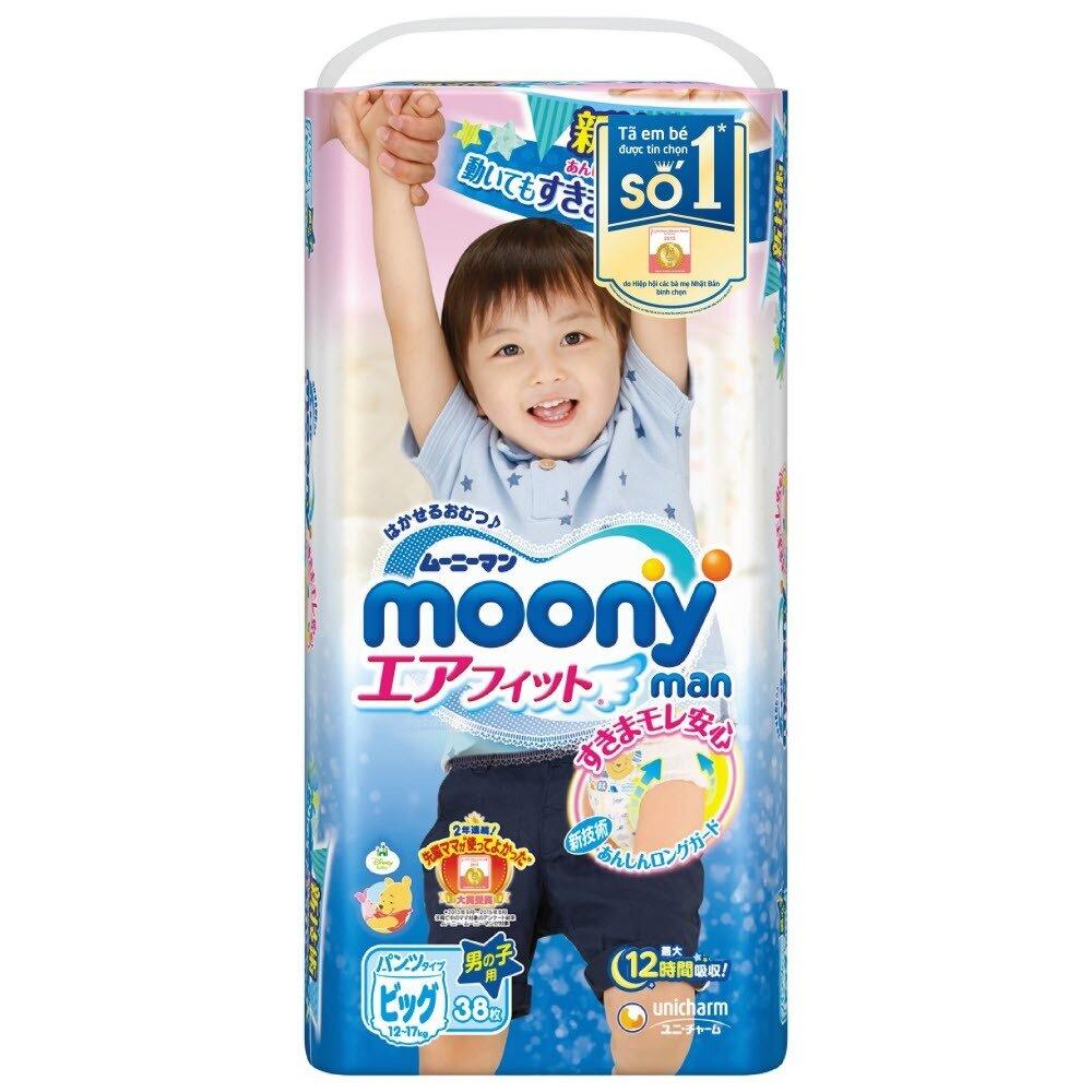 Bảng giá tã quần Moony chính hãng trong tháng 1/2018