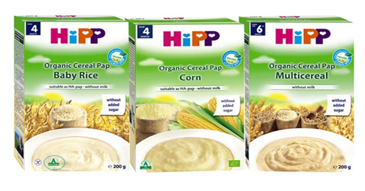 Bảng giá thực phẩm ăn dặm cho bé Hipp cập nhật tháng 4/2019