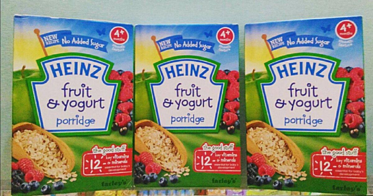 Bảng giá thực phẩm ăn dặm Heinz cập nhật tháng 1/2018