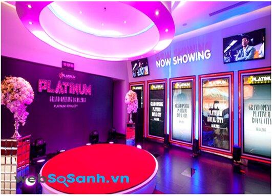 Bảng giá vé xem phim tại hệ thống rạp Platinum cineplex