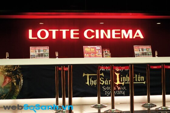 Bảng giá vé xem phim tại Lotte Cinema