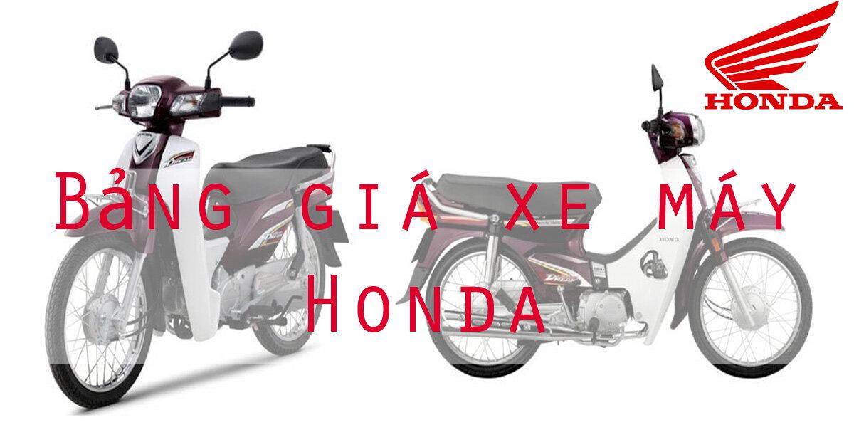 Bảng giá xe máy Honda mới nhất hiện nay tháng 12/2017