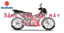Bảng giá xe máy Suzuki cập nhật mới nhất năm 2018