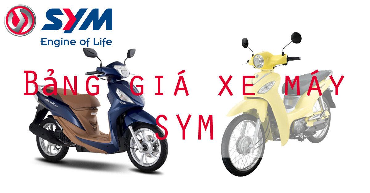 Bảng giá xe máy SYM cập nhật tháng 9-2018