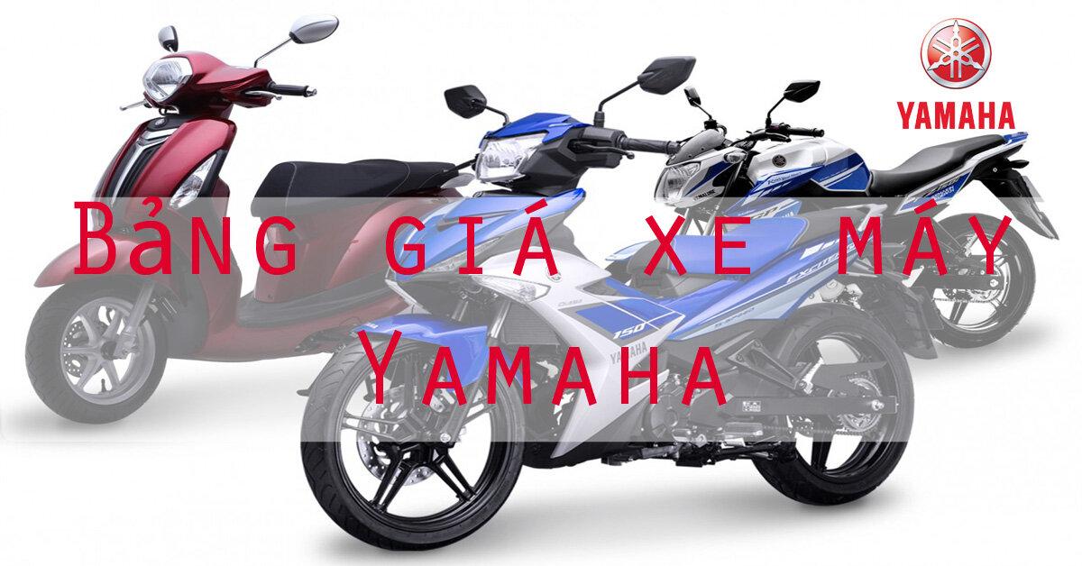 Bảng giá xe máy Yamaha cập nhật tháng 5/2018