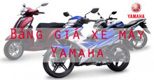 Bảng giá xe máy Yamaha cập nhật tháng 9-2018: hầu hết thấp hơn giá niêm yết của hãng