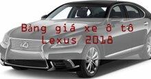 Bảng giá xe ô tô Lexus mới nhất thị trường năm 2018