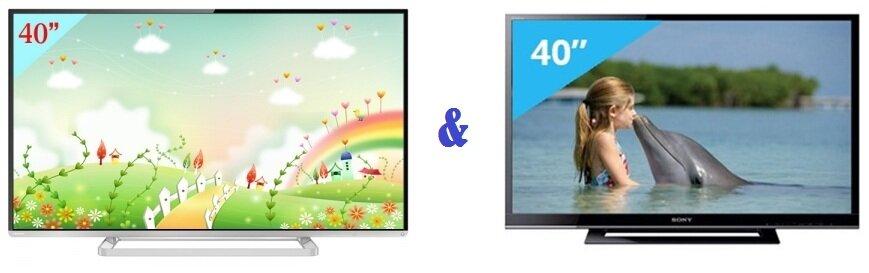 Bảng so sánh Tivi LED Toshiba 40L5450 và Tivi LED Sony KLV-40R452A