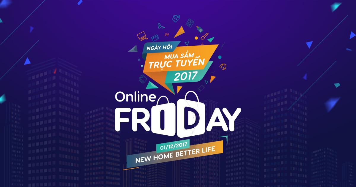 Online Friday Ngày hội mua sắm trực tuyến