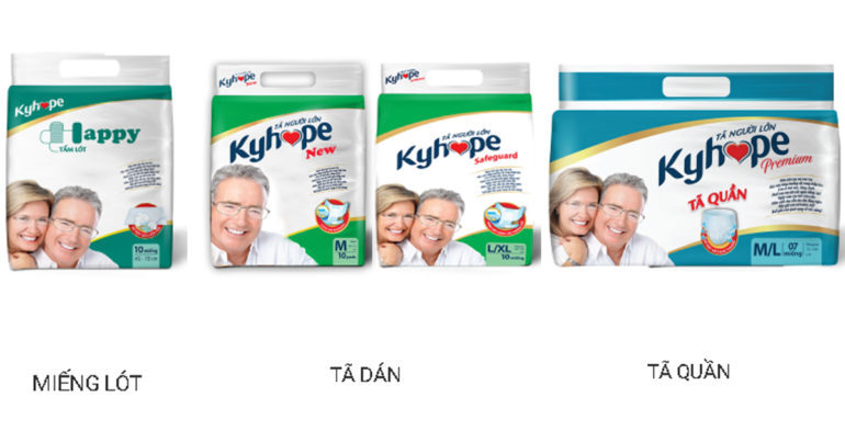 Tã người lớn Kyhope có tốt không ? Có mấy loại ? Sự khác nhau của mỗi loại là gì ?