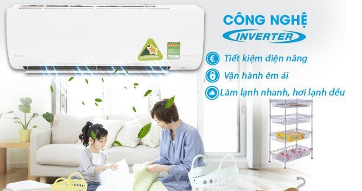 Điều hòa Daikin Inverter 1.5 HP FTKQ35SAVMV - Giá rẻ nhất: 10.099.000 vnđ