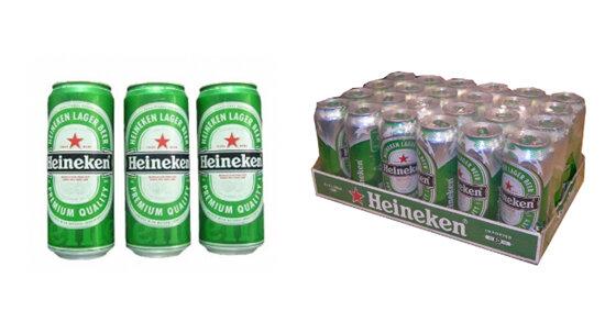 Bia Heineken nhập khẩu Hà Lan loại 500ml giá bao nhiêu tiền ?