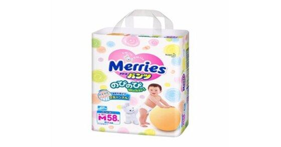 Bỉm Merries size M phù hợp với bé không ?