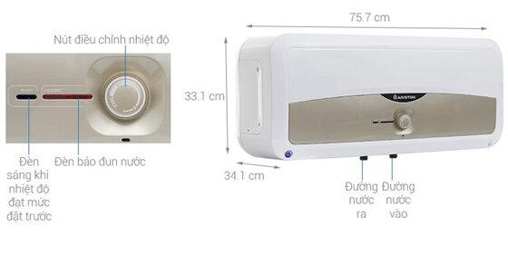 Bình nóng lạnh Ariston 30l ngang giá bao nhiêu ?