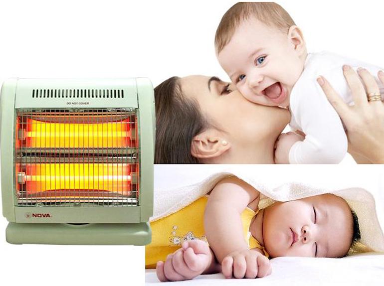 Sử dụng đèn sưởi cho trẻ sơ sinh ra sao để bảo vệ da cho bé?