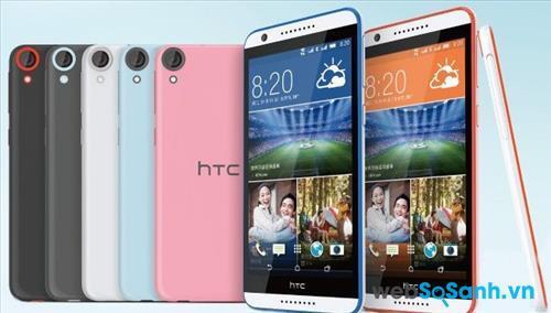 HTC Desire 820G Plus vẫn sở hữu lớp vỏ nguyên khối được làm từ chất liệu nhựa polycarbonate