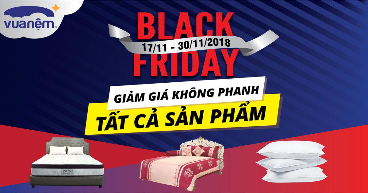 Black Friday: Vua Nệm Giảm giá không phanh nệm và chăn ga gối chỉ từ 49k