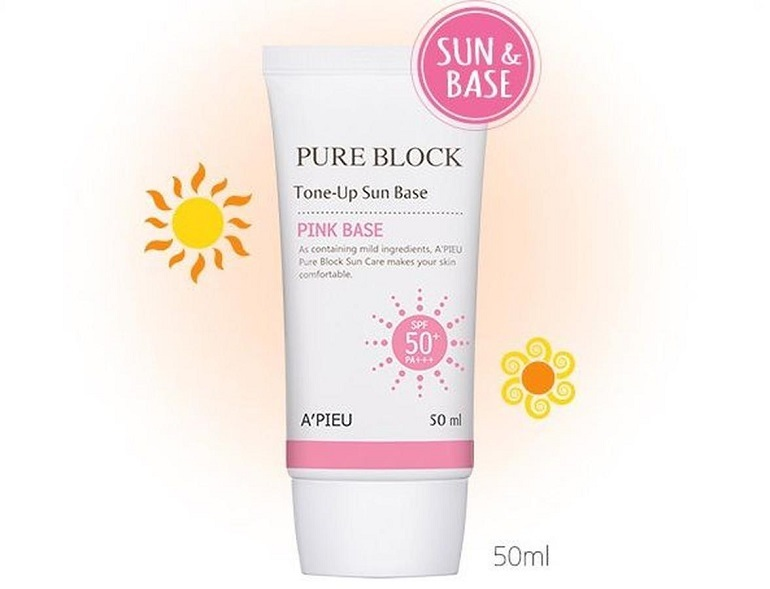 A'pieu Pure Block Tone Up Sun Base SPF50+/PA+++