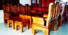 Bộ bàn ghế phòng khách Âu Á tay hộp loại nào đẹp?