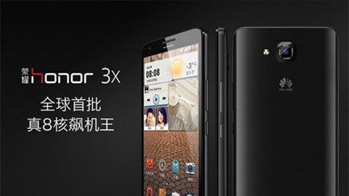 Bộ đôi smartphone giá rẻ Honor 3X và 3C mới từ Huawei