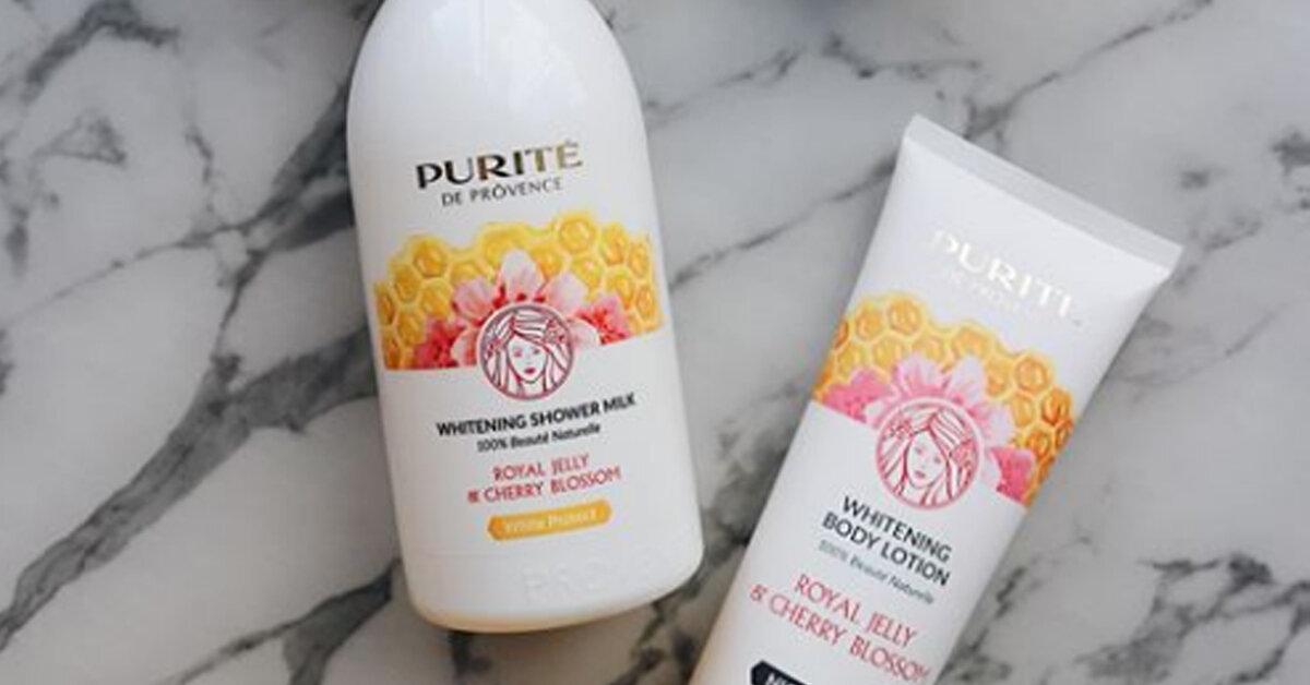 Bộ đôi sữa tắm dưỡng trắng và dưỡng thể Purité Royal Jelly & Cherry Blossom có gì đặc biệt mà được chị em ưa chuộng đến thế ?