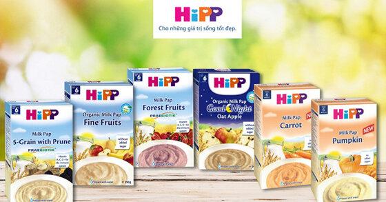 Bột ăn dặm Hipp ngọt có ngon không? Có những loại nào?