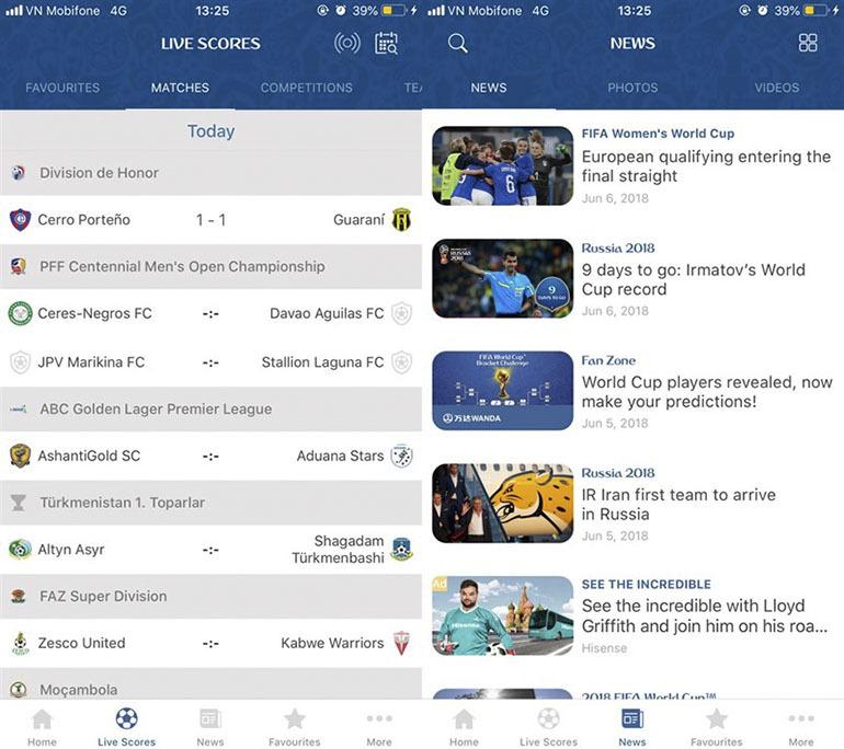 Cài đặt lịch thi đấu World Cup 2018 trên điện thoại iPhone
