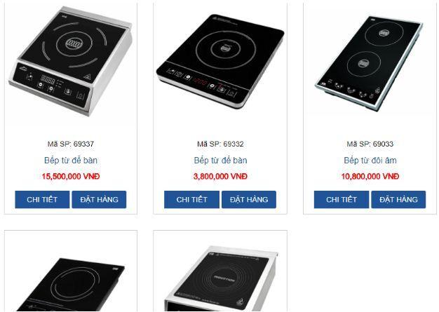 Đồ gia dụng nhà bếp HPS cung cấp đầy đủ các mẫu mã kiểu dáng bếp từ nhập khẩu Châu Âu