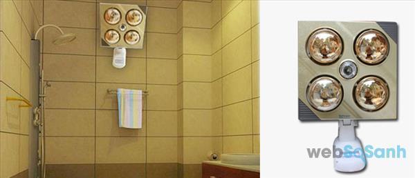 ngắt điện đèn sưởi nhà tắm