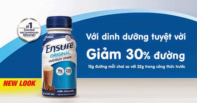 Sữa Ensure nước ít đường