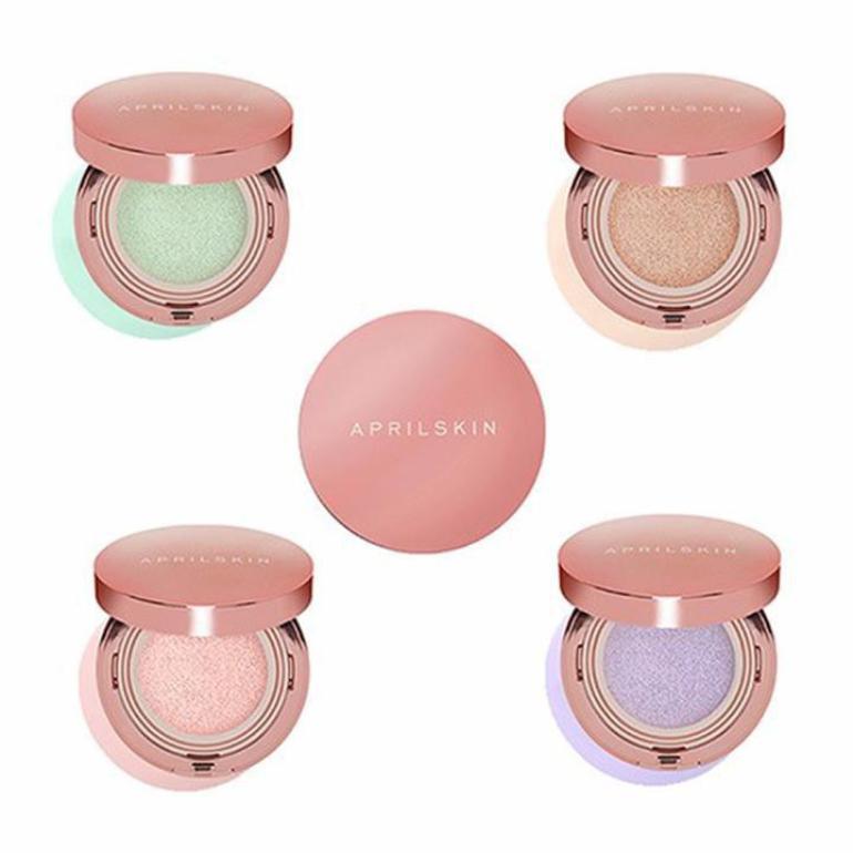 Review phấn nước April Skin Magic Pink Cushion: hiệu chỉnh màu da xịn thực sự? | giamcanlamdep.com.vn