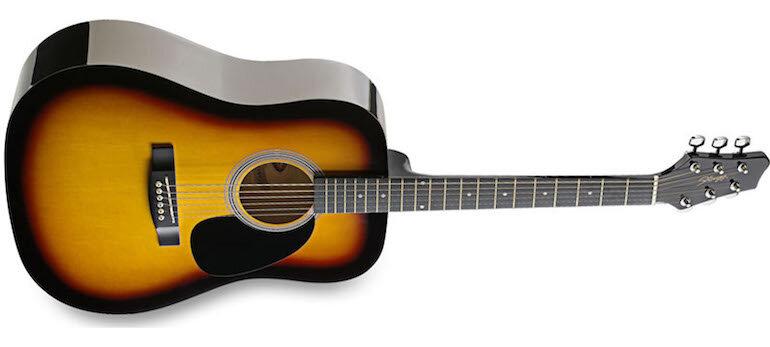 Một cây đàn Acoustic Stagg sẽ là sự lựa chọn lý tưởng dành cho người mới học guitar