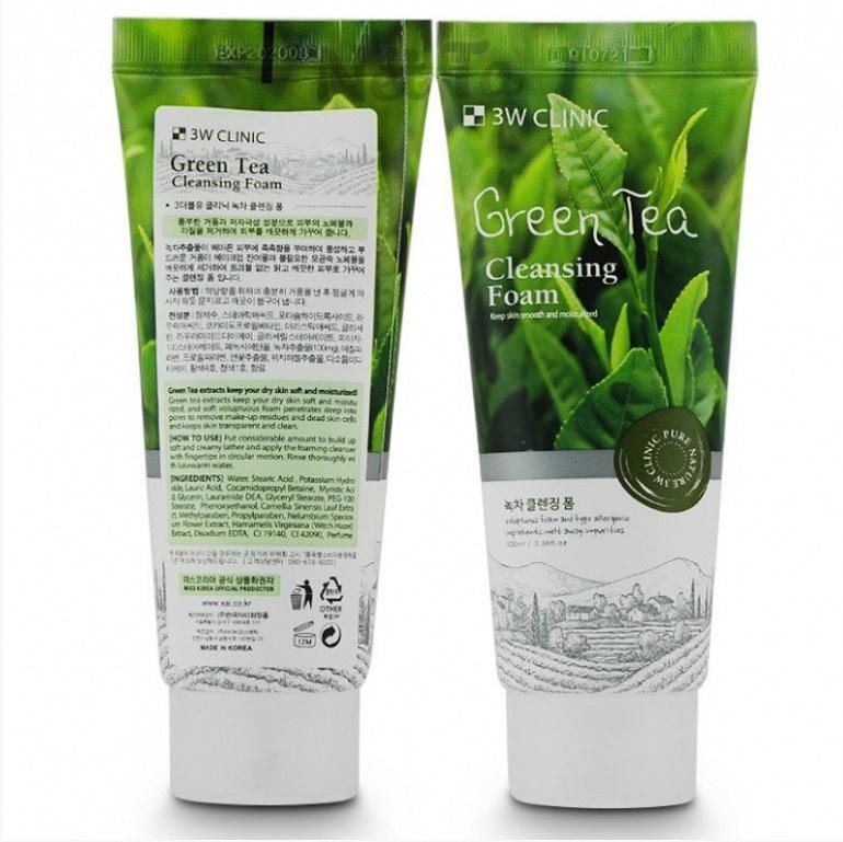 Sữa rửa mặt 3W Clinic Green Tea Foam Cleansing