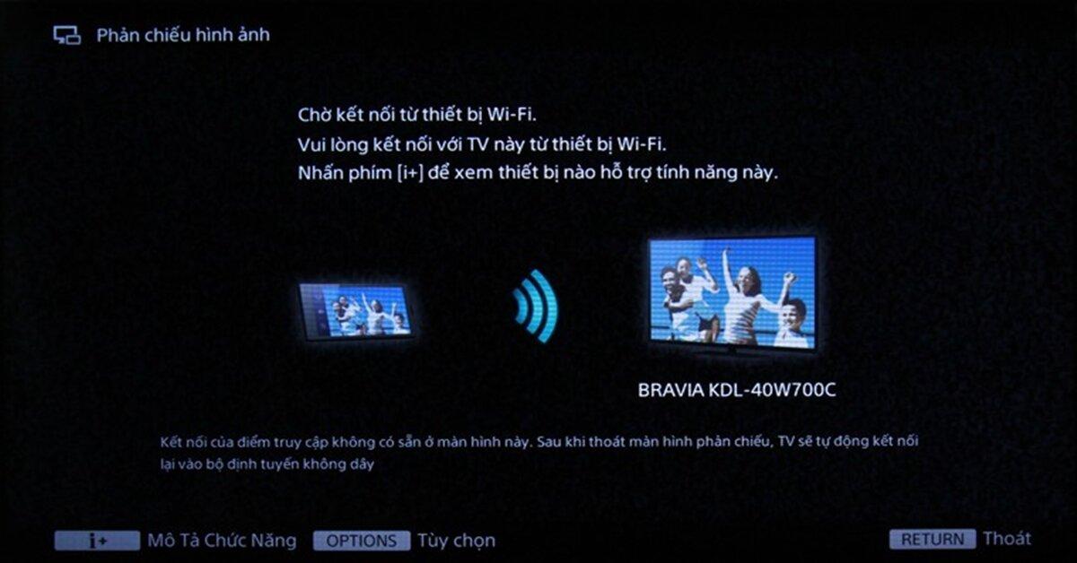 Các bước sửa lỗi tivi không chiếu màn hình điện thoại