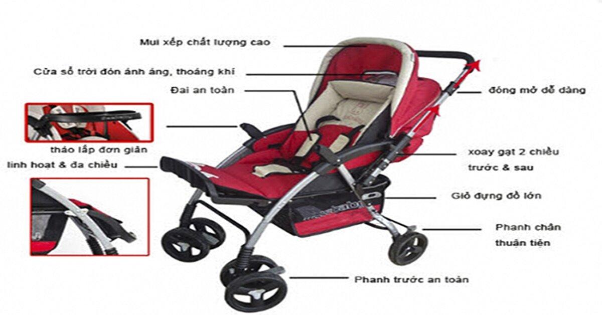 Các tiêu chuẩn an toàn khi chọn xe đẩy trẻ em