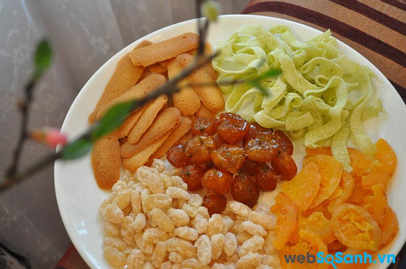 Cách bảo quản các đồ ăn vặt trong dịp tết