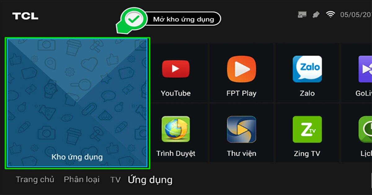 Cách cài đặt ứng dụng ngoài bằng file apk trên Smart tivi TCL