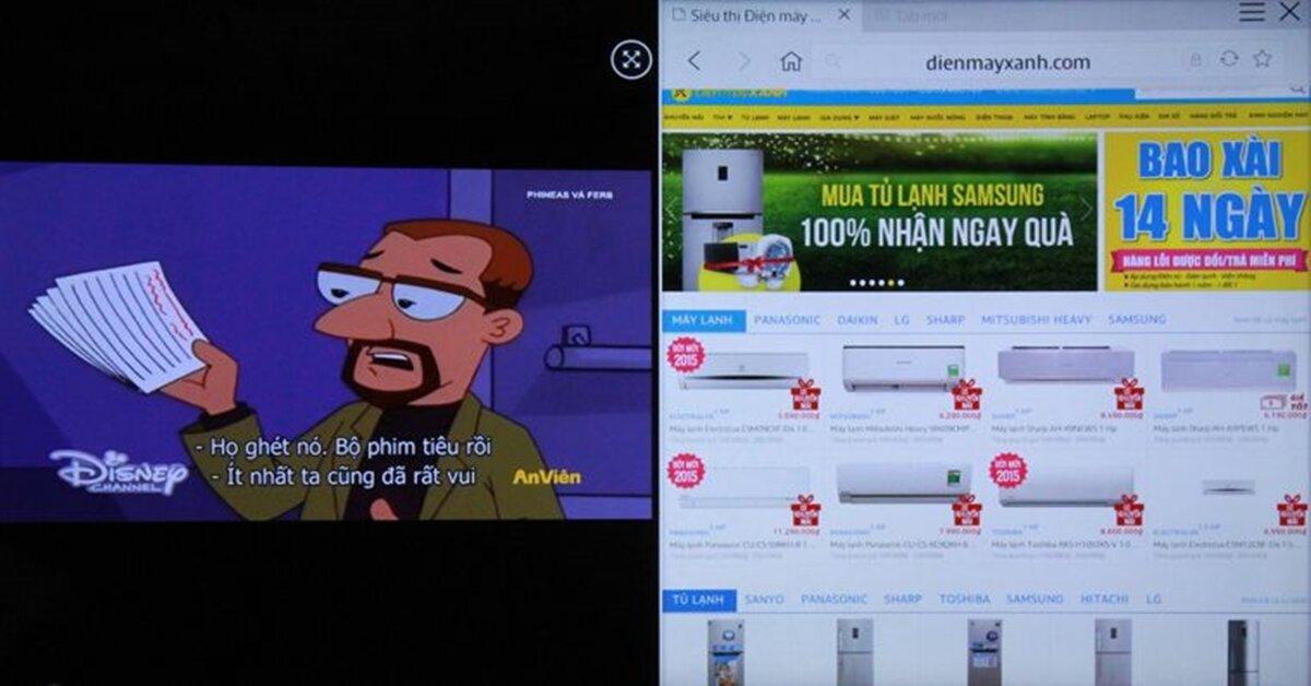 Cách chia đôi màn hình trên Smart tivi Samsung