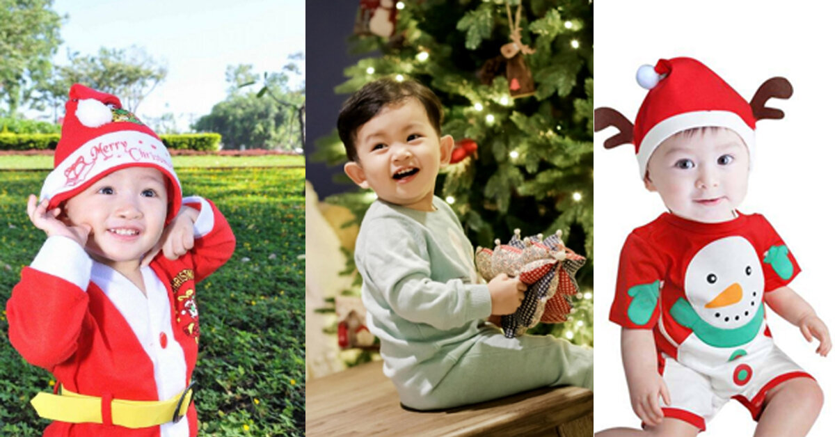 Cách chọn quần áo giáng sinh cho bé trai thật nổi bật
