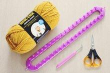 Cách đan khăn len bằng loom – lạ nhưng không khó