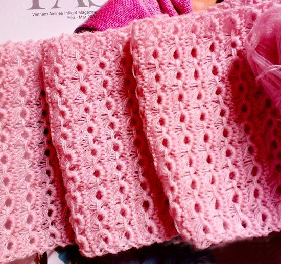 Cách đan khăn len hoa cúc đẹp mà dễ