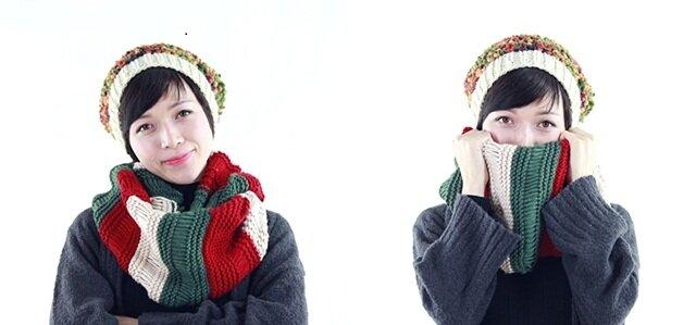 Cách đan khăn len ống 3 màu đơn giản mà không đơn điệu