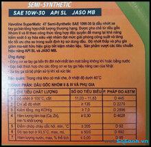 Cách đọc các chỉ số trên chai dầu nhớt xe máy