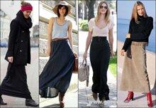 Cách kết hợp trang phục với chân váy dáng dài phù hợp với mọi vóc dáng