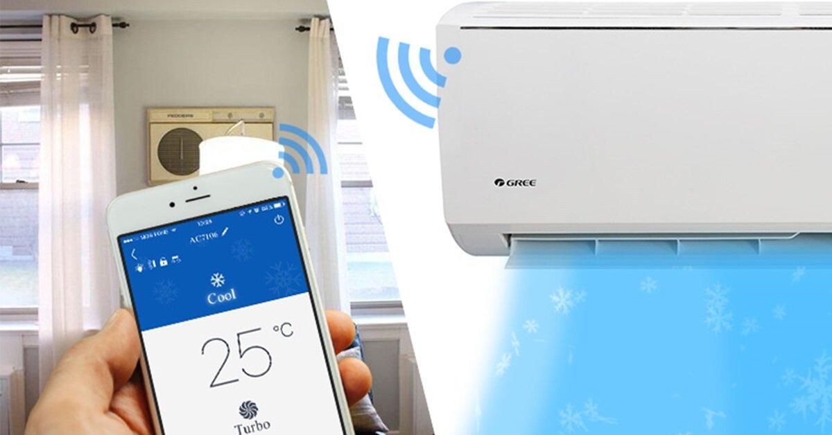 Cách kết nối điện thoại thông minh với máy lạnh wifi Gree