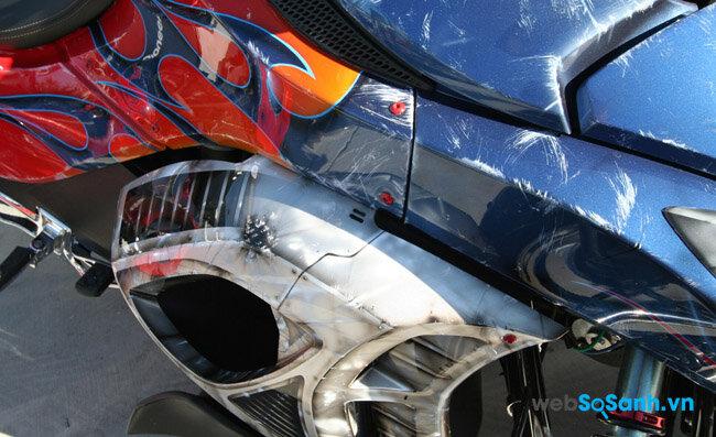 Cách khắc phục chiếc xe máy bị xước sơn