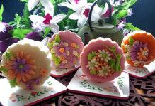 Cách làm bánh trung thu hoa nổi vừa đẹp, vừa ngon