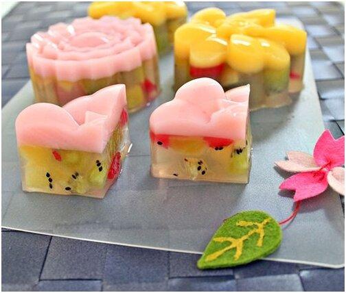 Cách làm bánh trung thu thạch hoa quả dành cho những người ăn kiêng